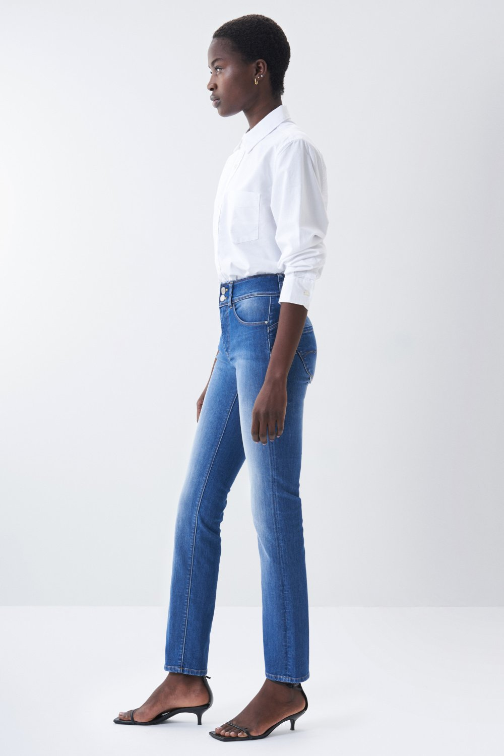 Secret push in slim soft touch jeans - Salsa