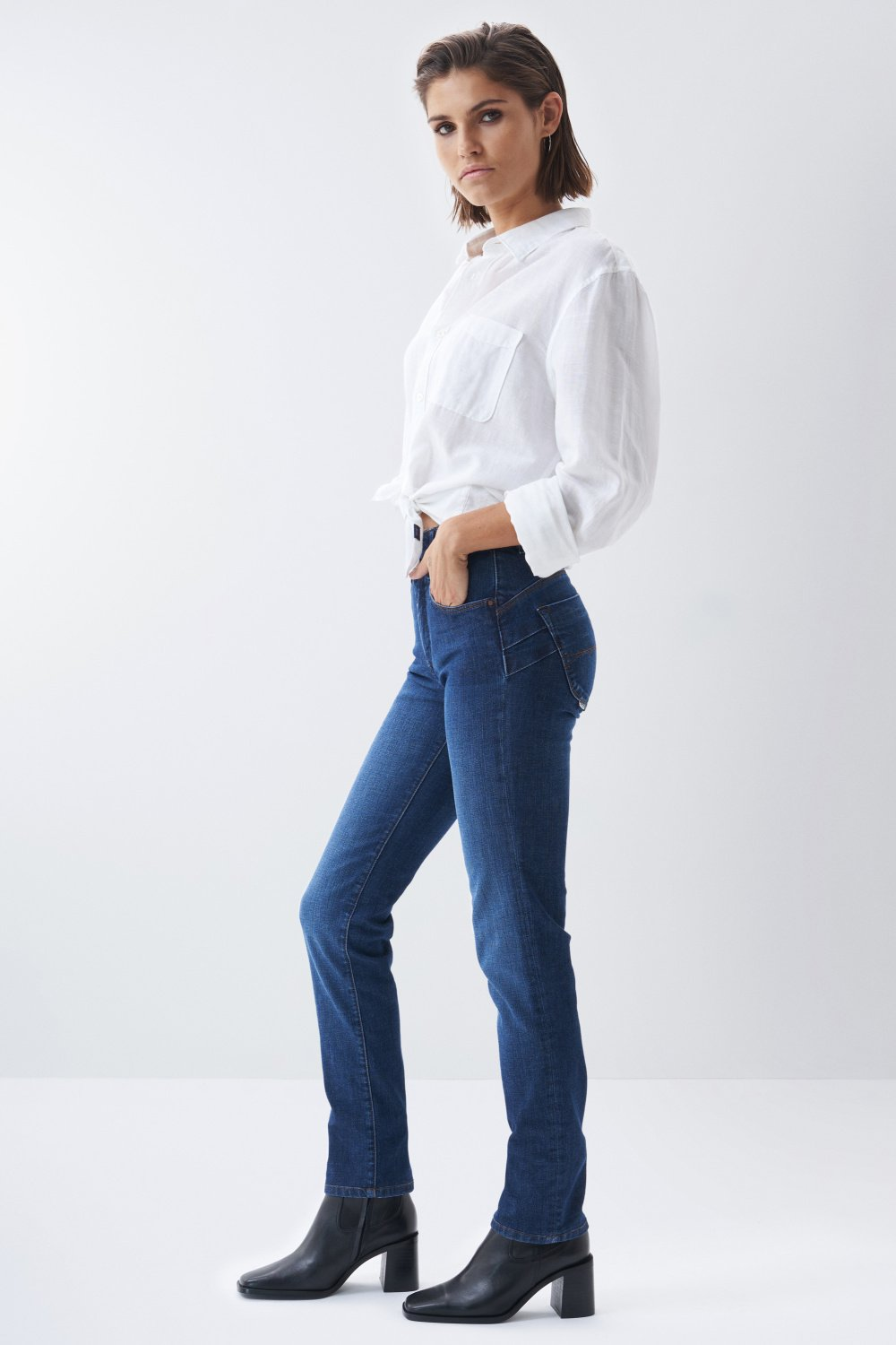 Jeans Secret, Push In, Slim Fit, mit Waschungseffekten - Salsa