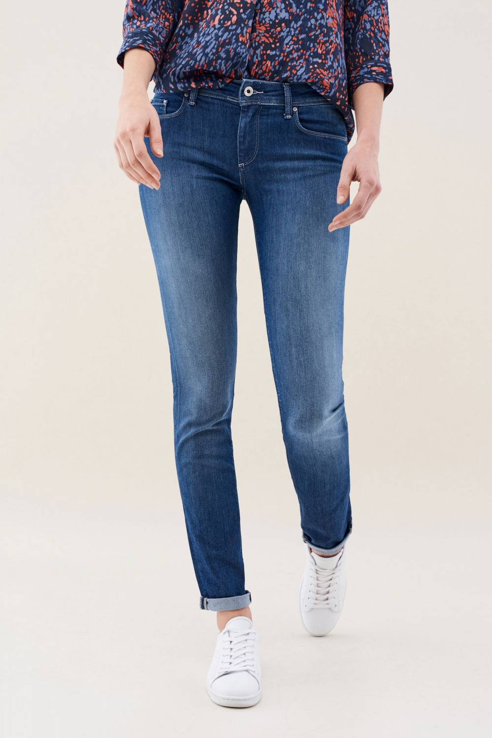 Wonder push up mid-rise jeans in medium rinse - Salsa