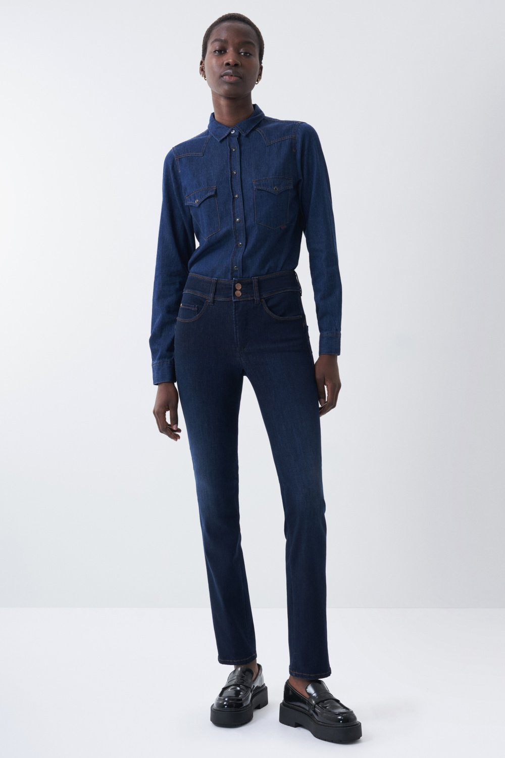 Dark wash slim leg Push In Secret jeans - Salsa