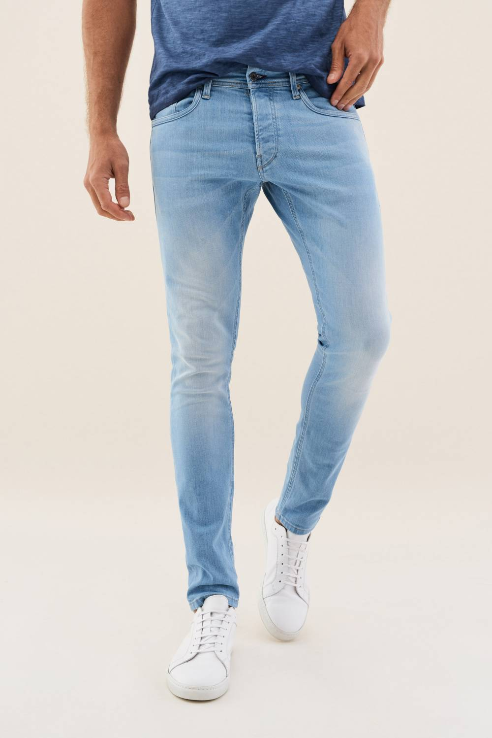 Clash skinny jeans in light colour - Salsa
