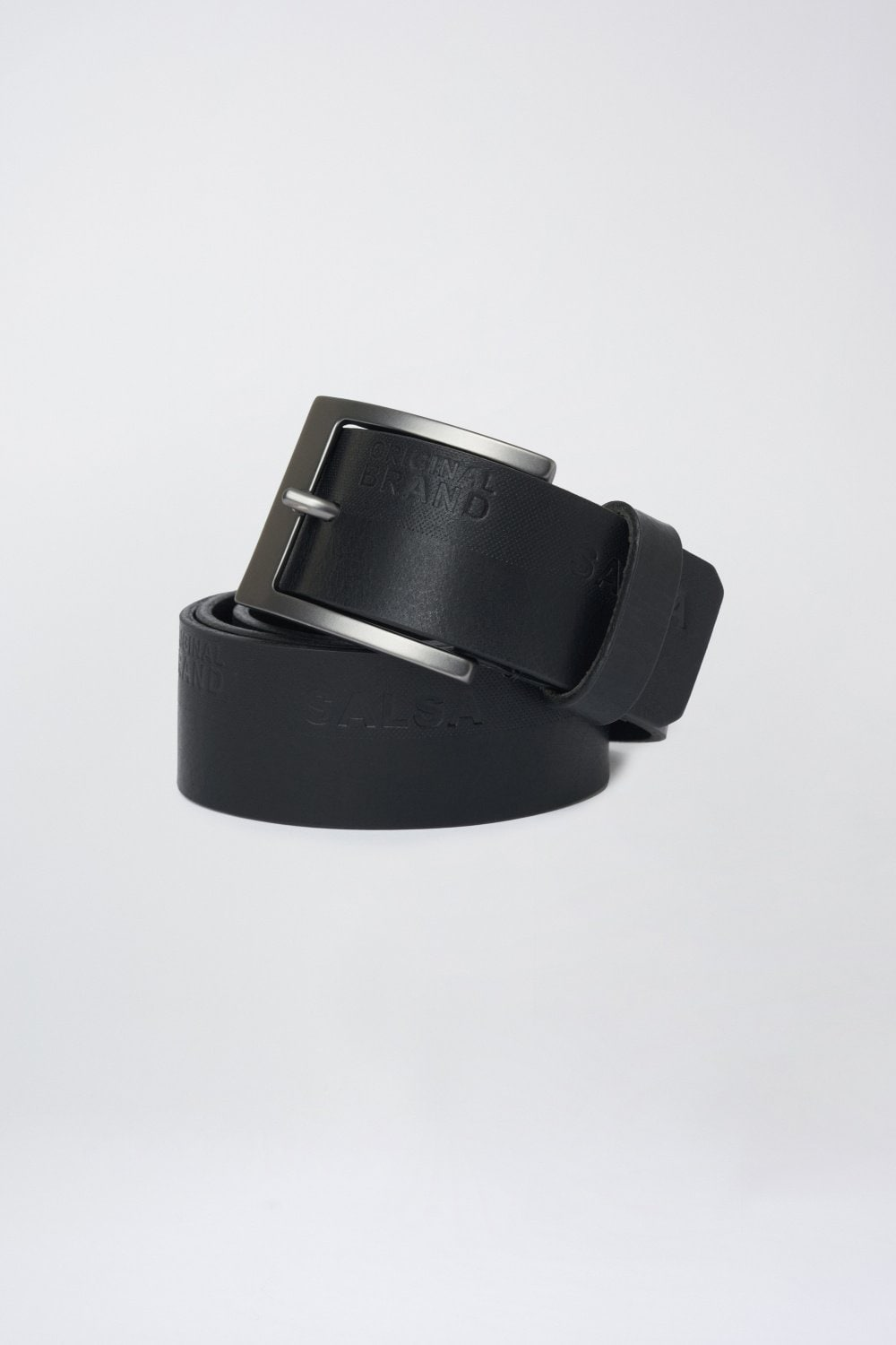 Leather belt with engraved logo - Salsa