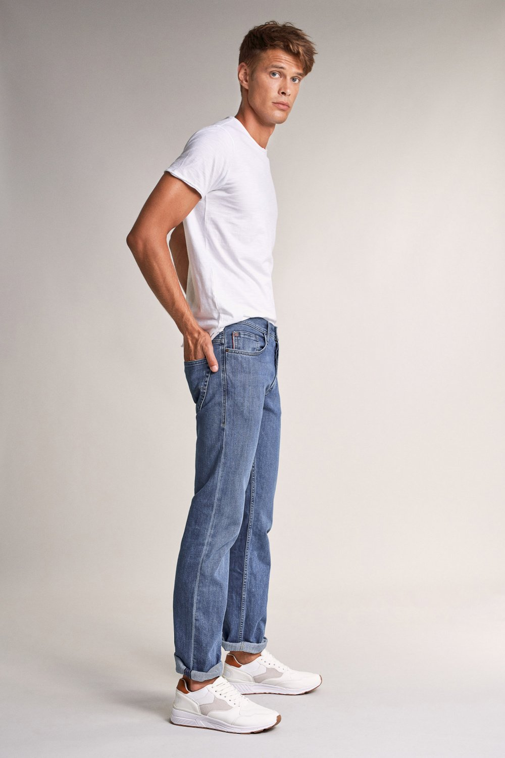 Navarro straight medium rinse jeans - Salsa