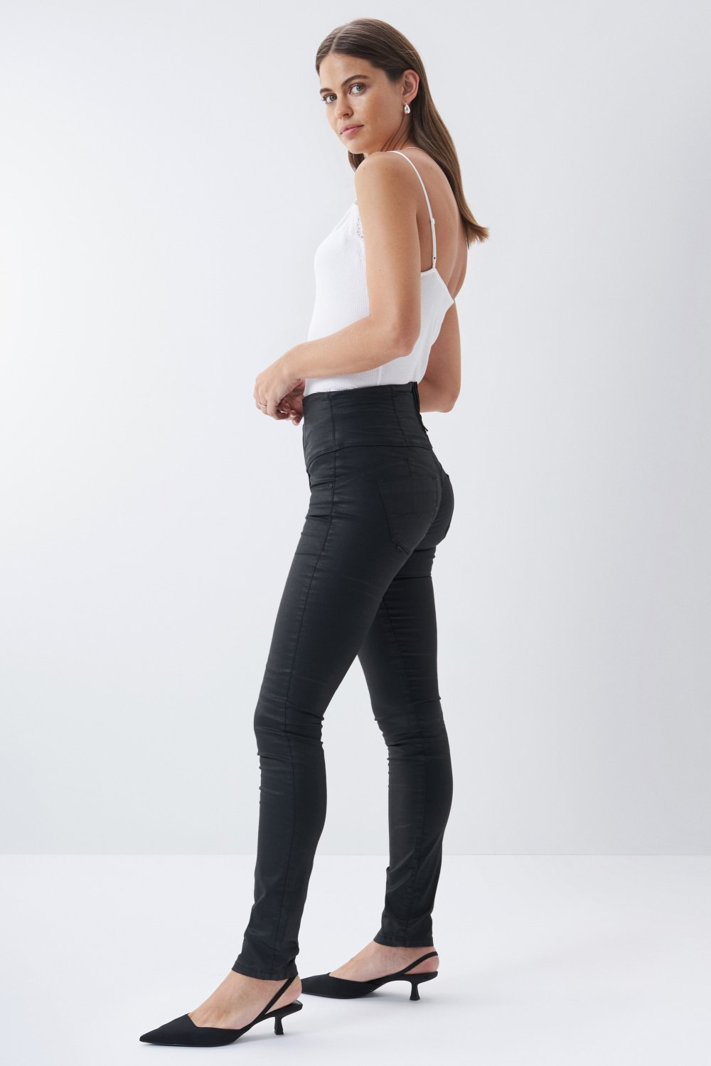 Jeans diva slim fit snellenti con coating - Salsa