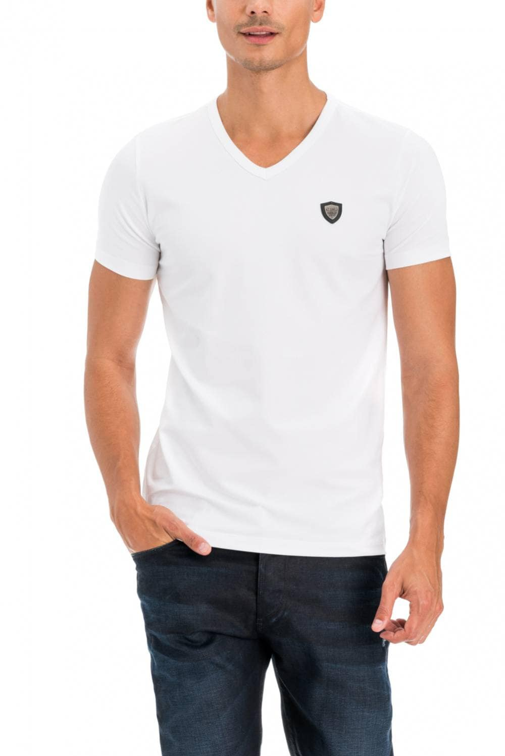 T-shirt coupe slim avec badge - Salsa
