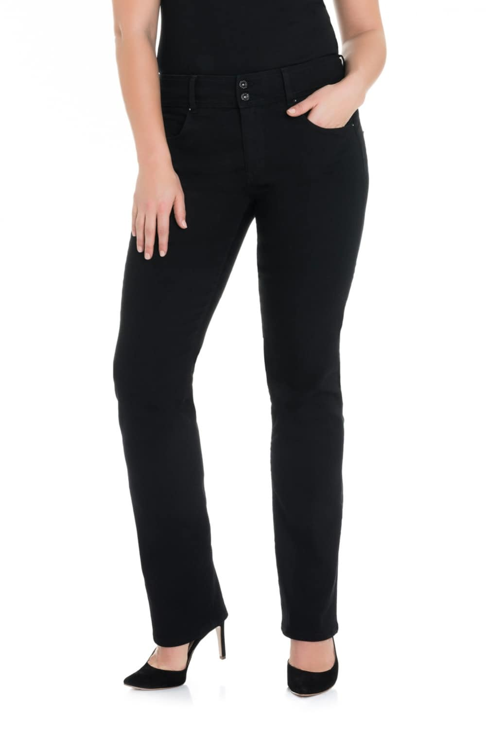 Jeans secret plus push in slim pretas - Salsa