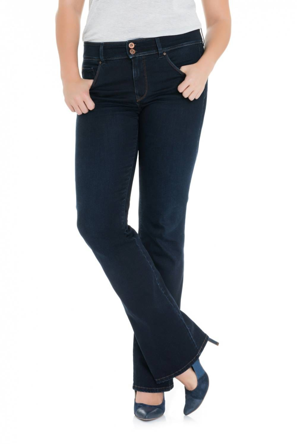 Plus Size Jeans Soft Touch - Secret Bootcut Push In - Salsa
