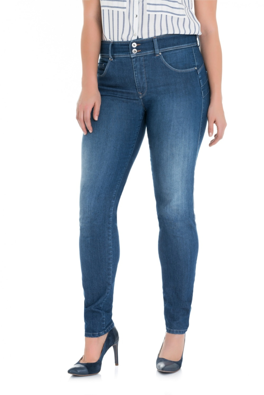Secret plus push in jeans in medium rinse - Salsa