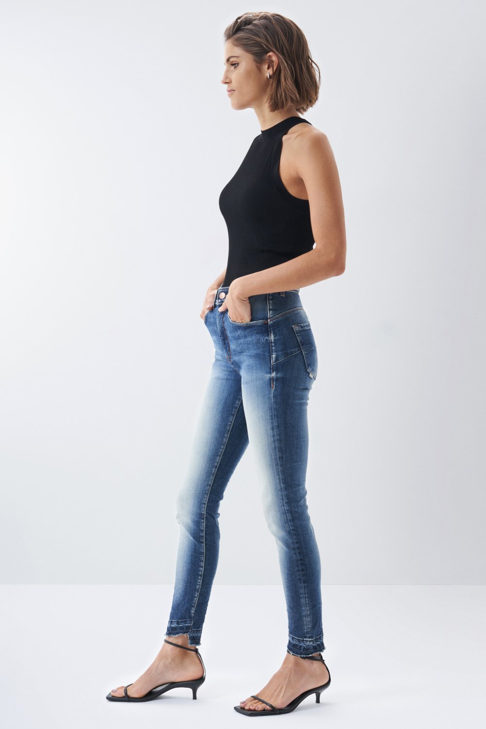 Secret glamour push in capri premium wash jeans - Salsa