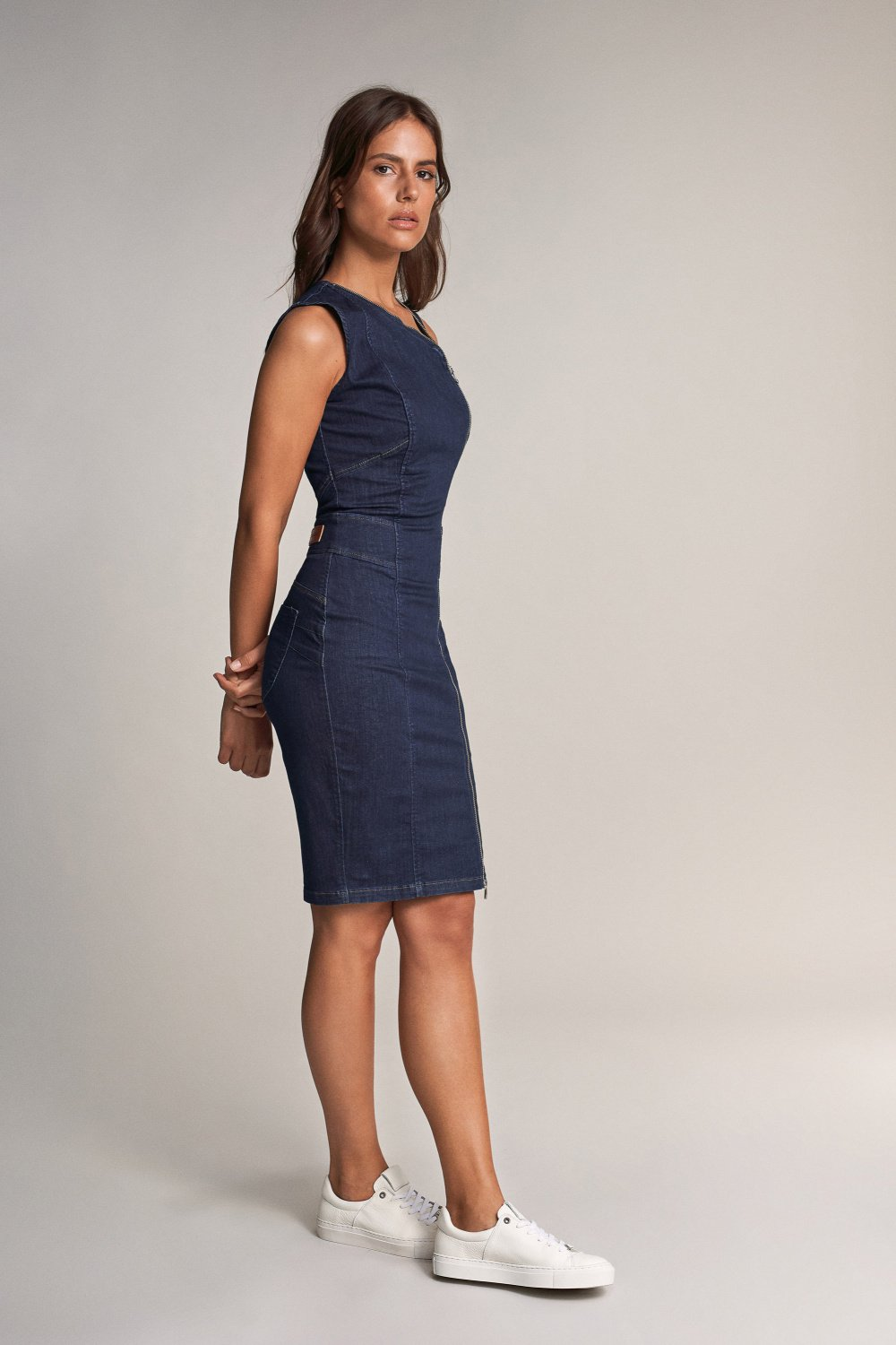 Kleid, Secret, in dunklem Denim - Salsa