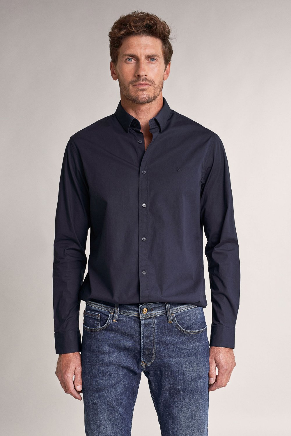 Camisa Lisa Stretch - Salsa