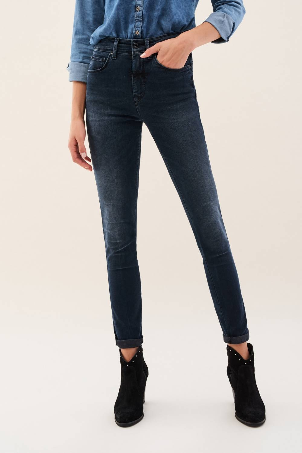 Dark denim Secret Glamour jeans - Salsa