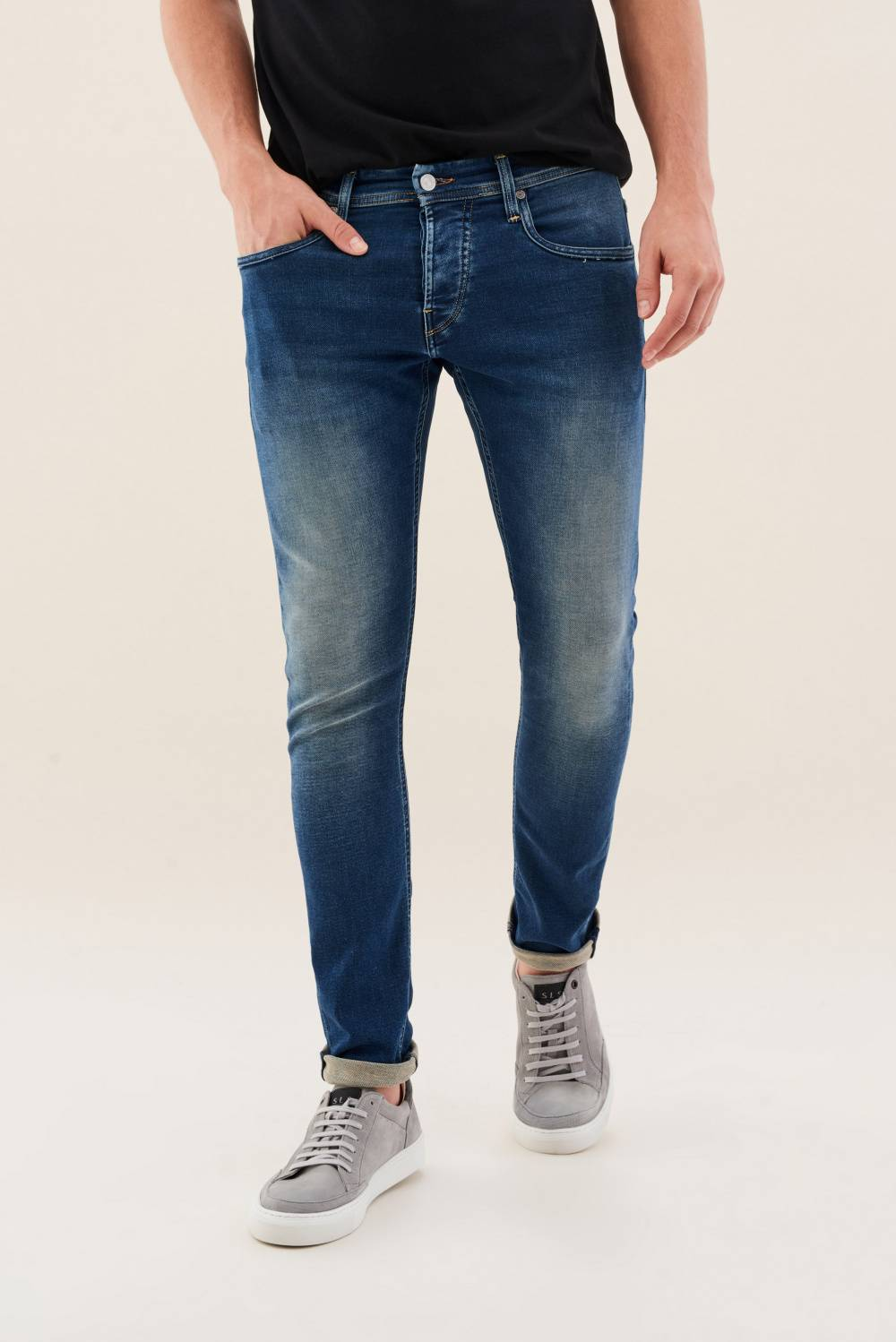 Jogger Clash jeans in overdye wash - Salsa