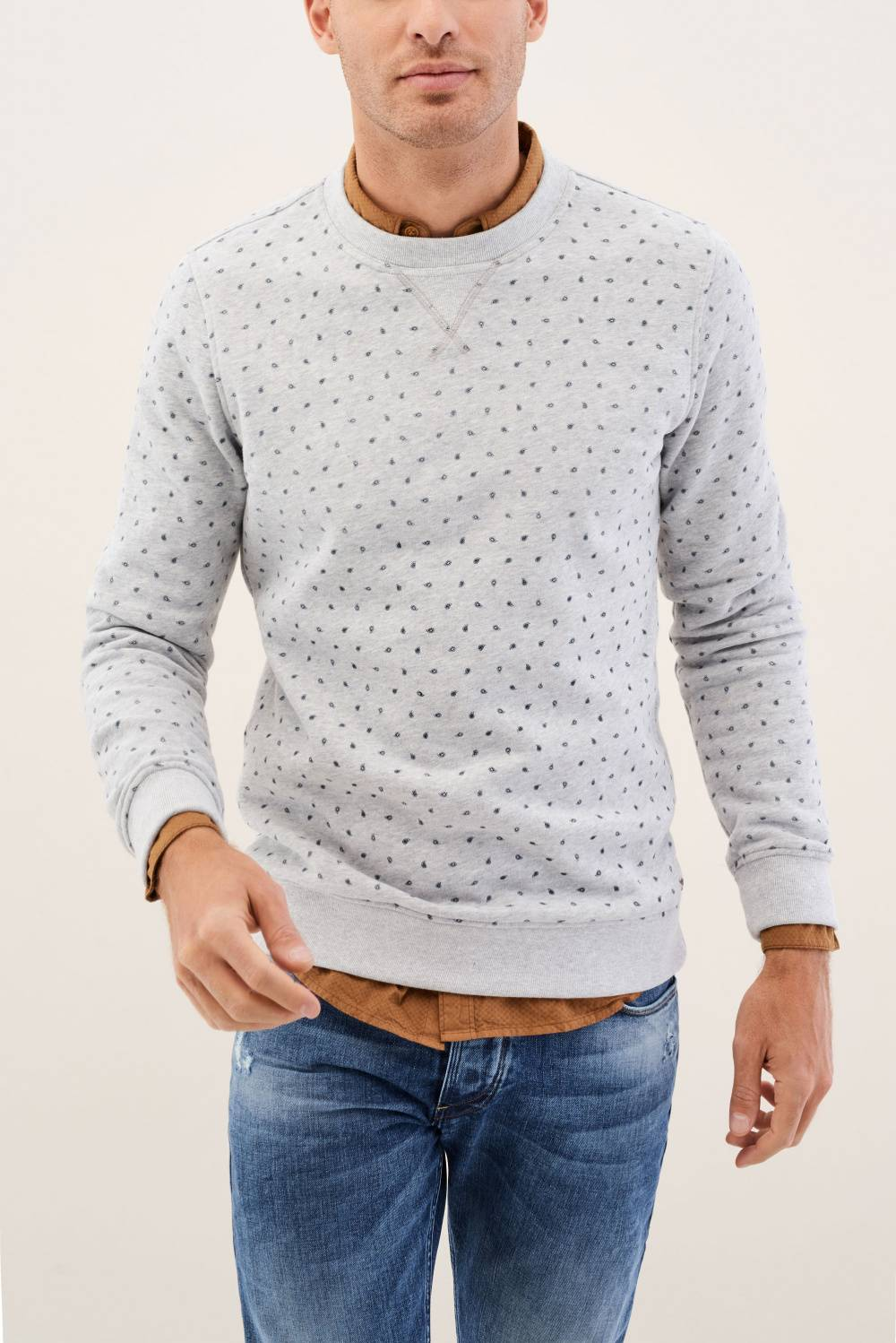 Sweater with microprint - Salsa