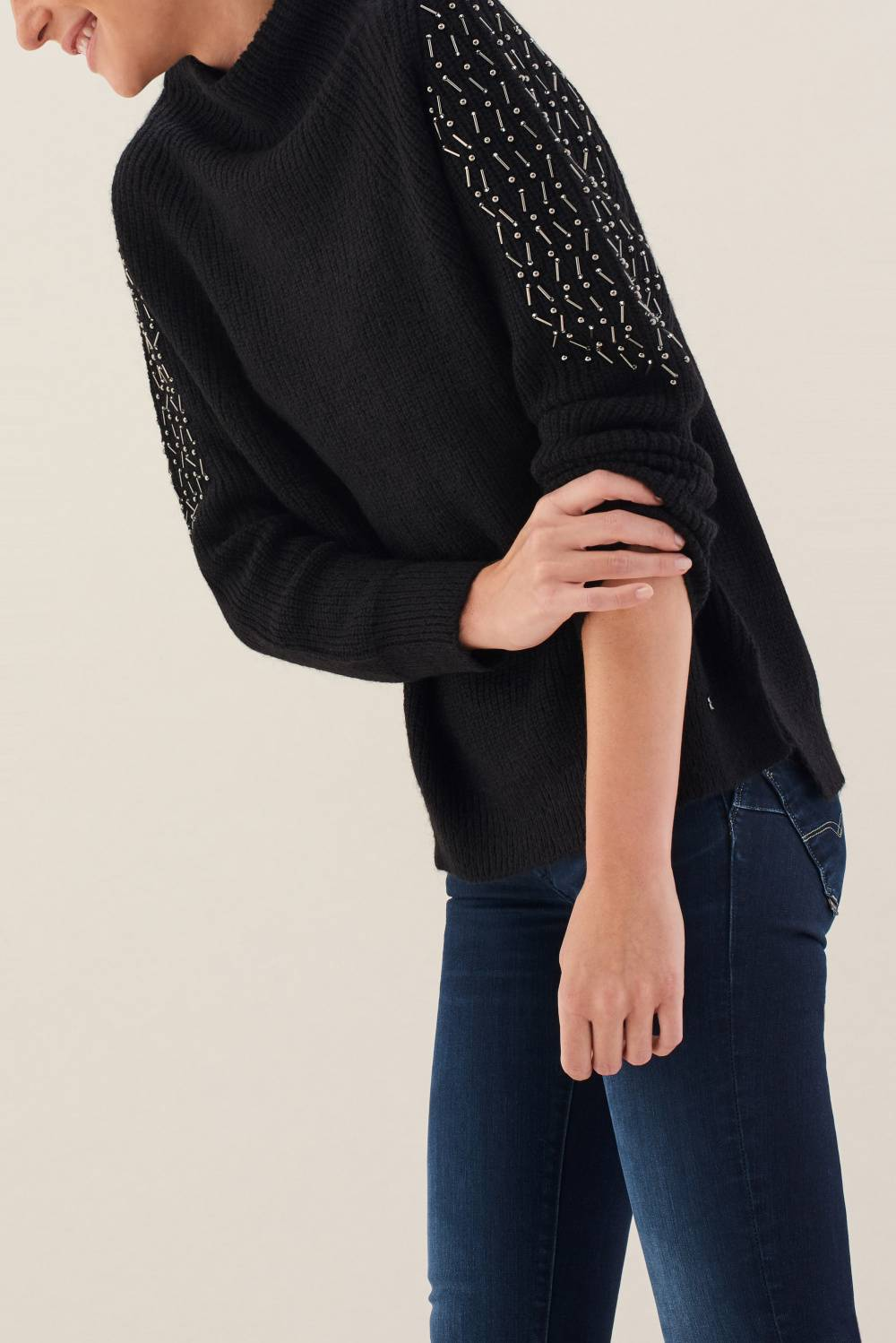 Sweatshirt with pearls - Salsa