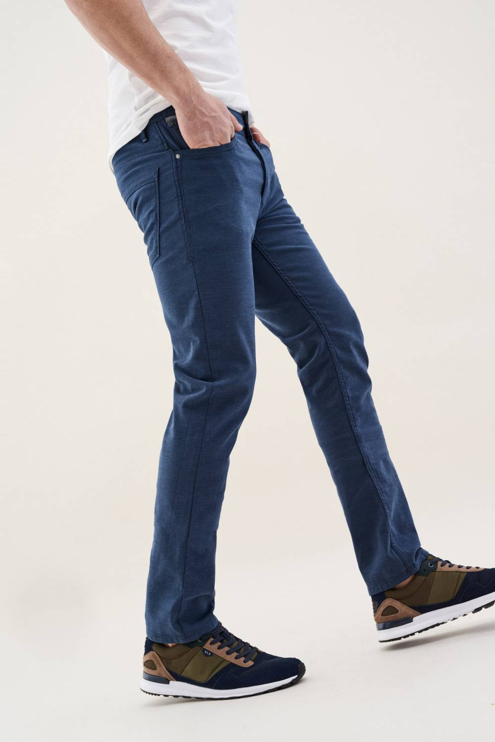 Lima trousers in coloured fabric - Salsa