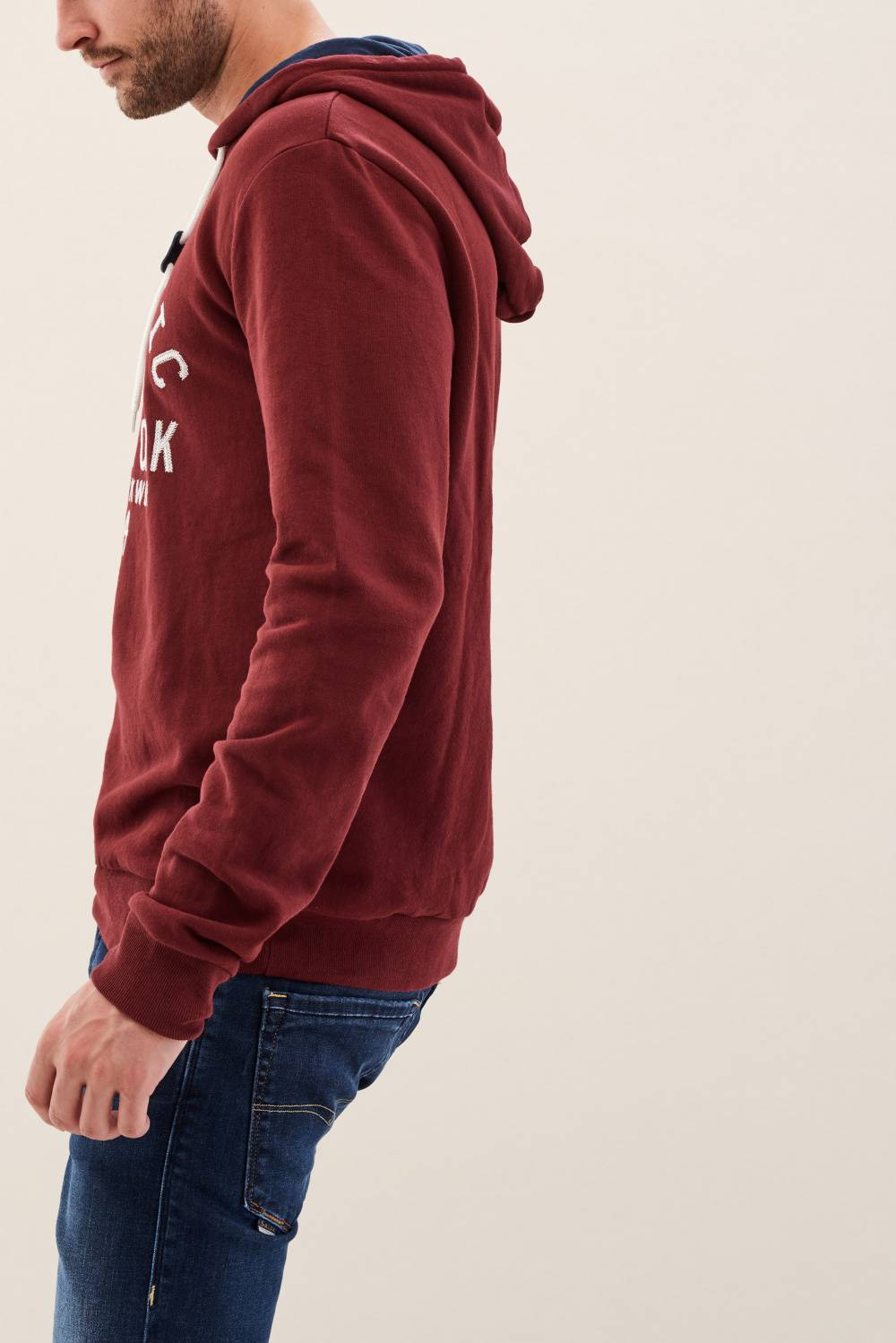 Plain hooded jumper - Salsa