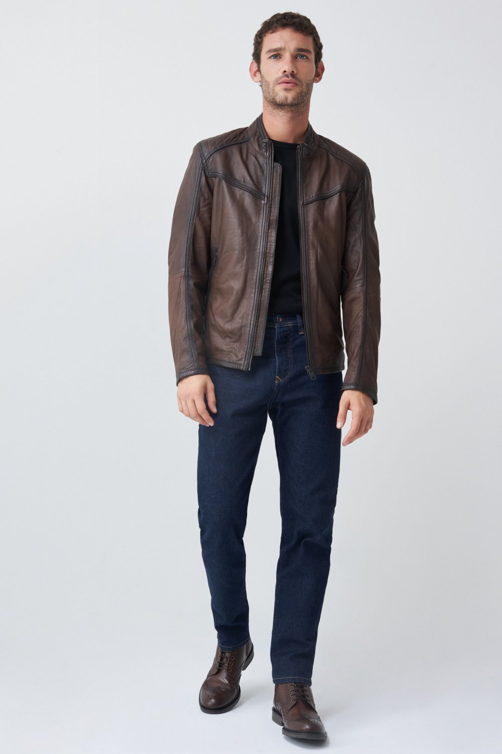 Leather biker jacket - Salsa