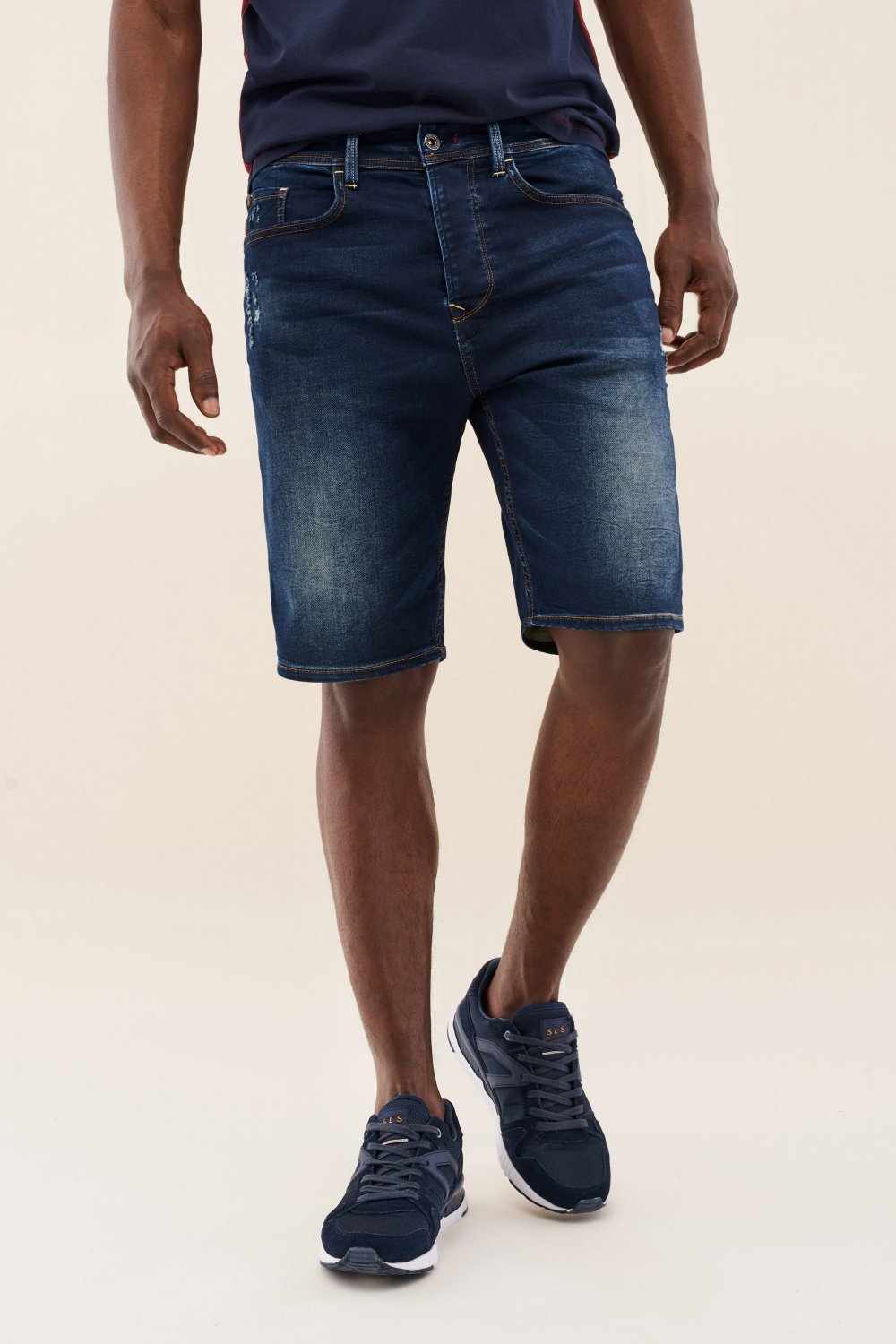 Shorts Loose Jogger, Stoff in Overdye - Salsa