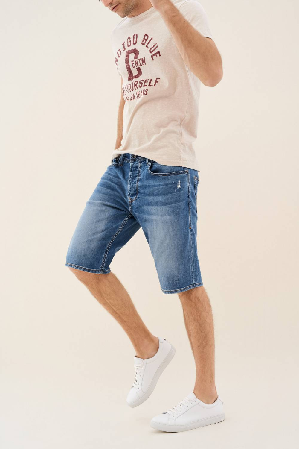 Loose shorts in light denim - Salsa