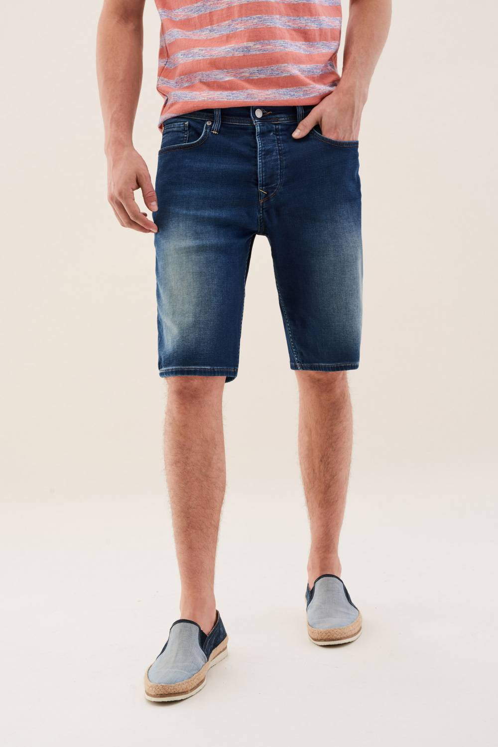 Loose jogger overdyed shorts - Salsa
