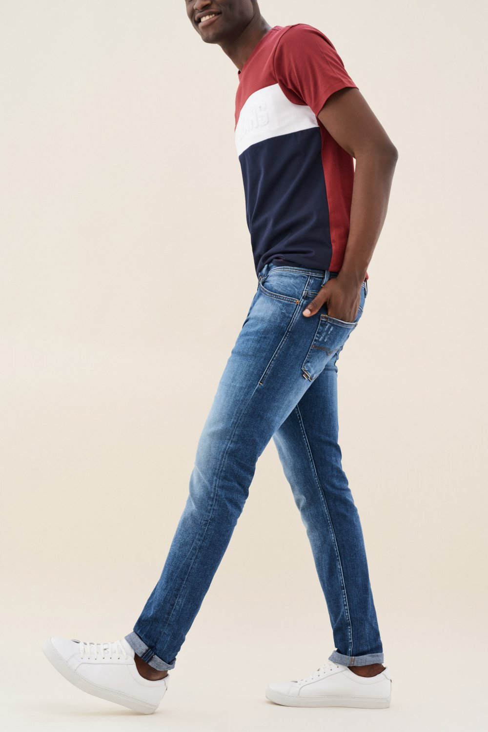 Slender slim jeans in light colour - Salsa