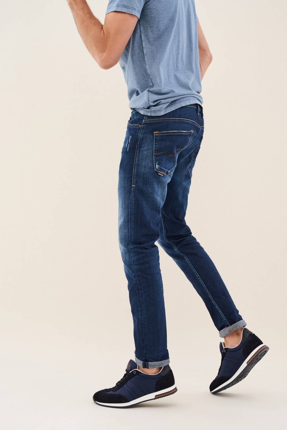 Jeans Slender, Slim Fit, Carrot, Premium Waschung - Salsa