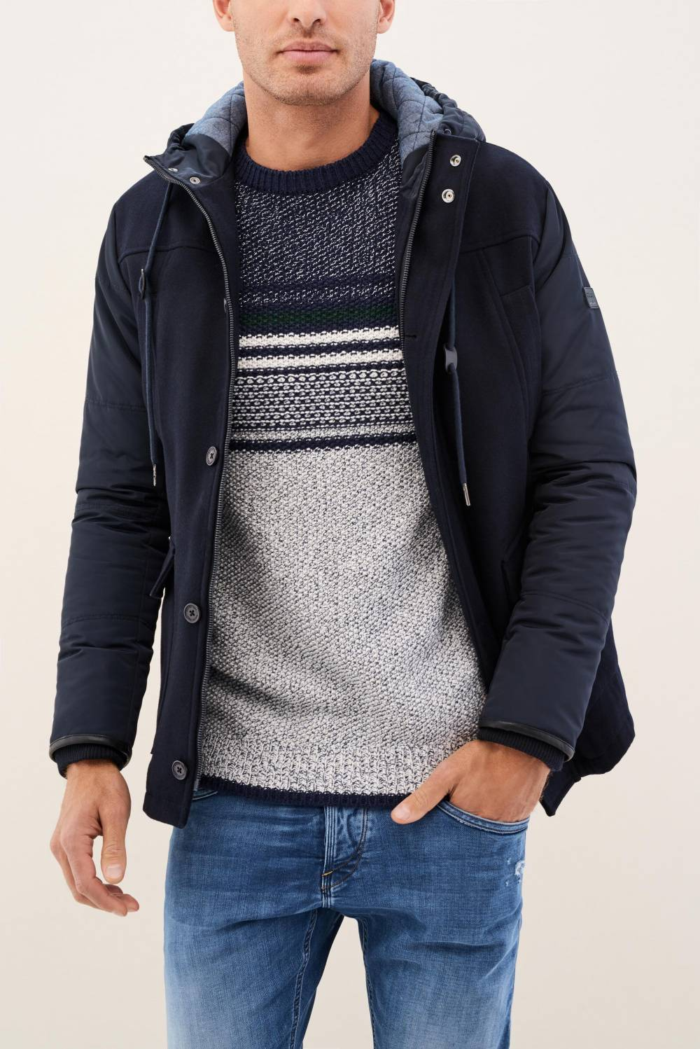 Regular jacket in fabric - Salsa