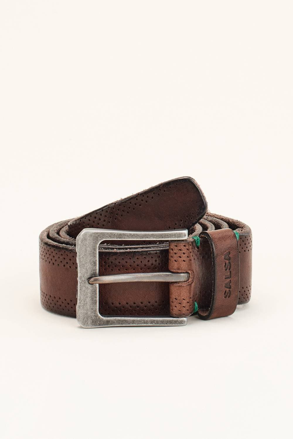 Perforated leather belt - Salsa