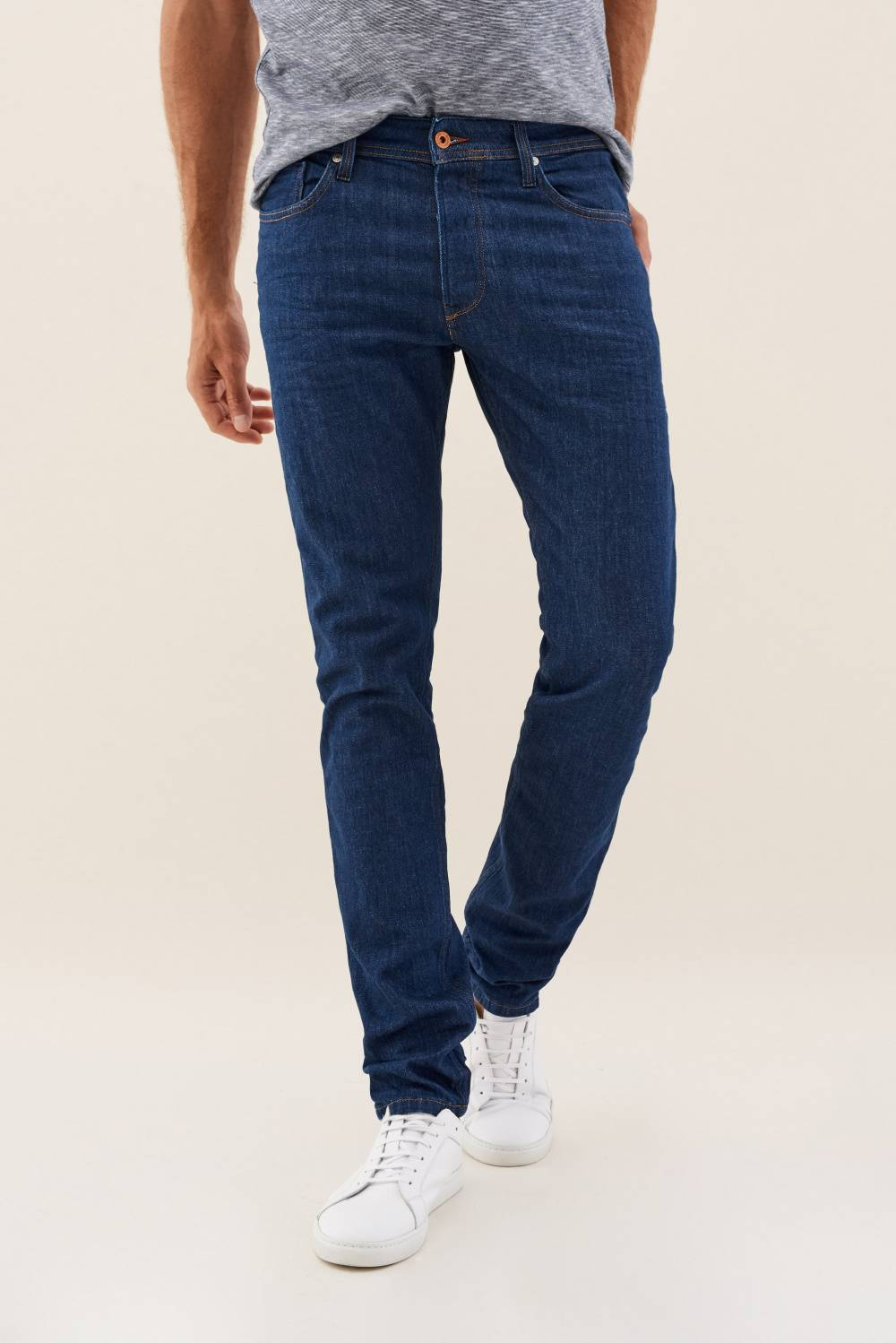 Lima tapered jeans in medium-dark blue - Salsa