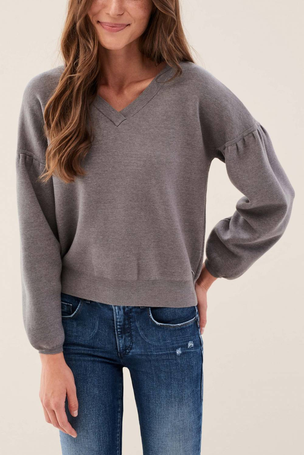 Sweater with balloon sleeves - Salsa