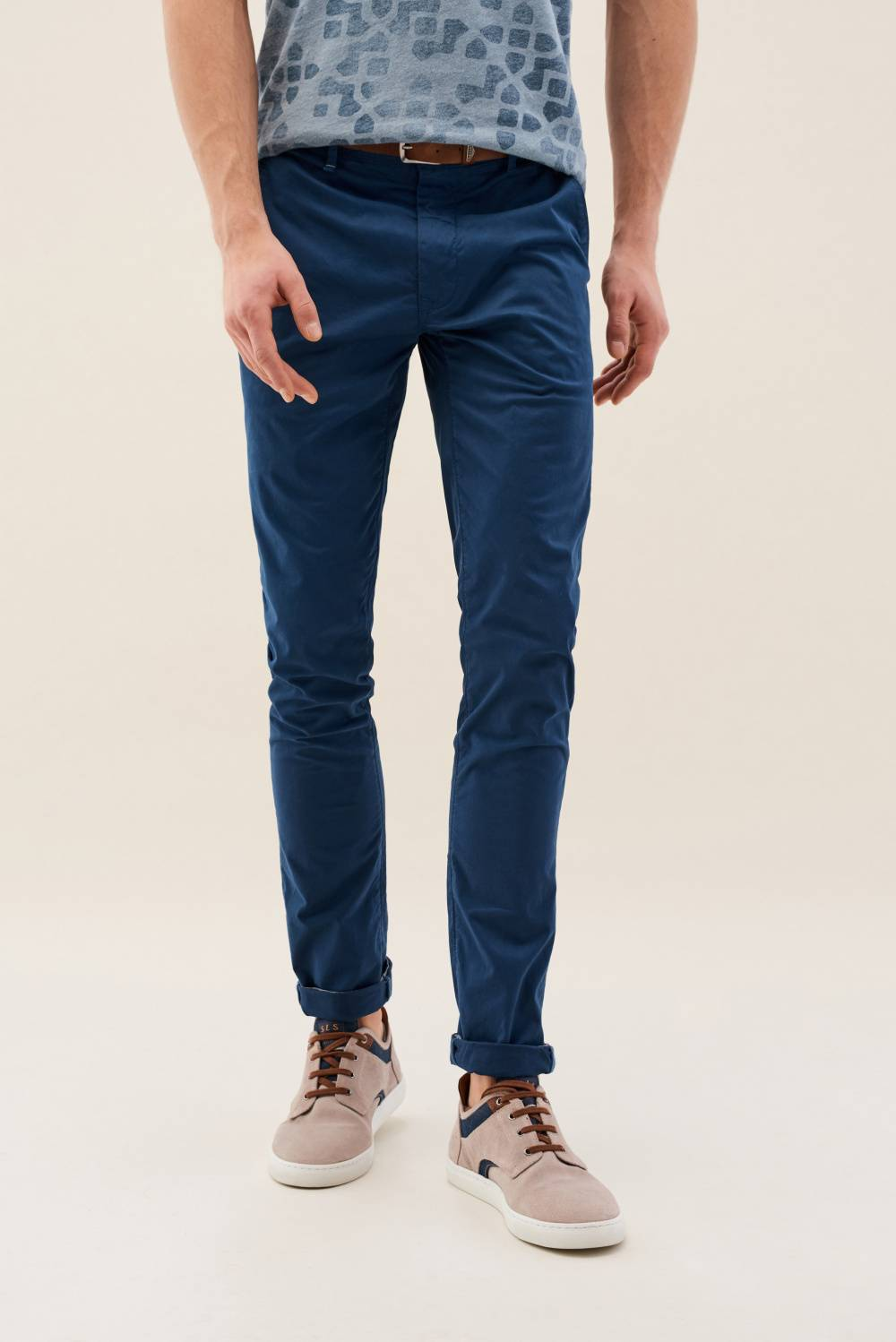 Slim Andy chinos trousers with belt offer - Salsa