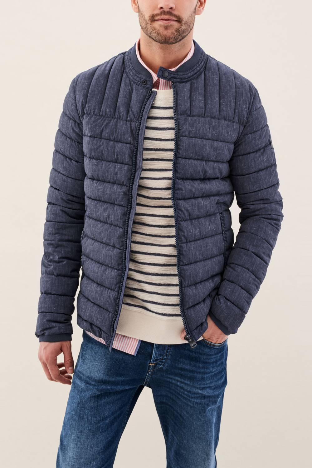 Stretch padded denim look jacket - Salsa