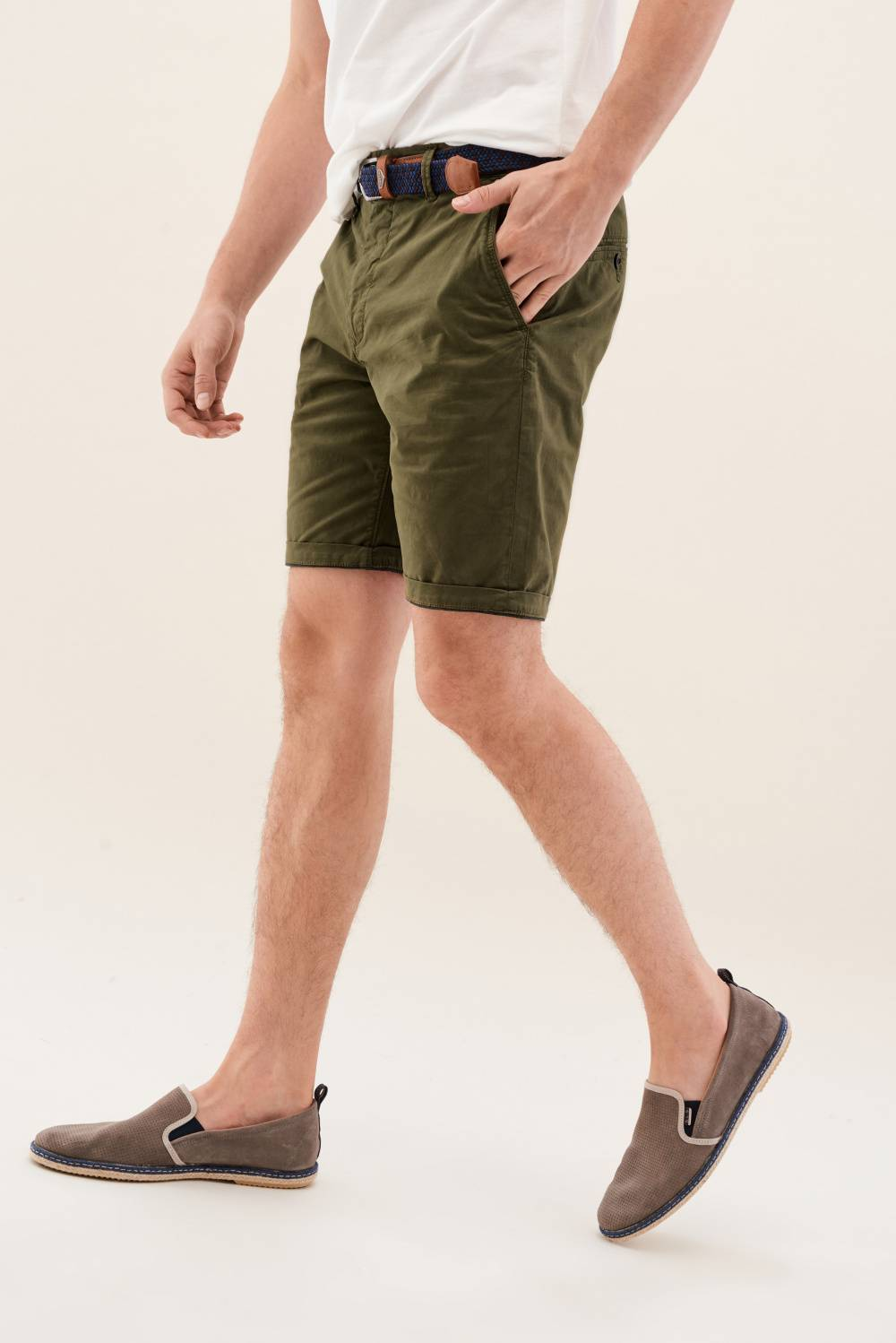 Chino Shorts with belt offer - Salsa