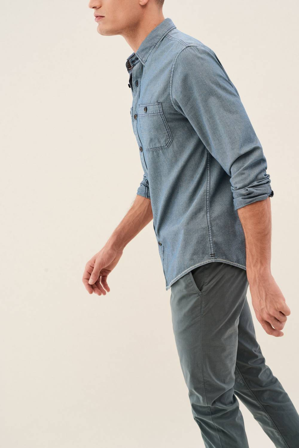 Slim shirt with twill texture - Salsa