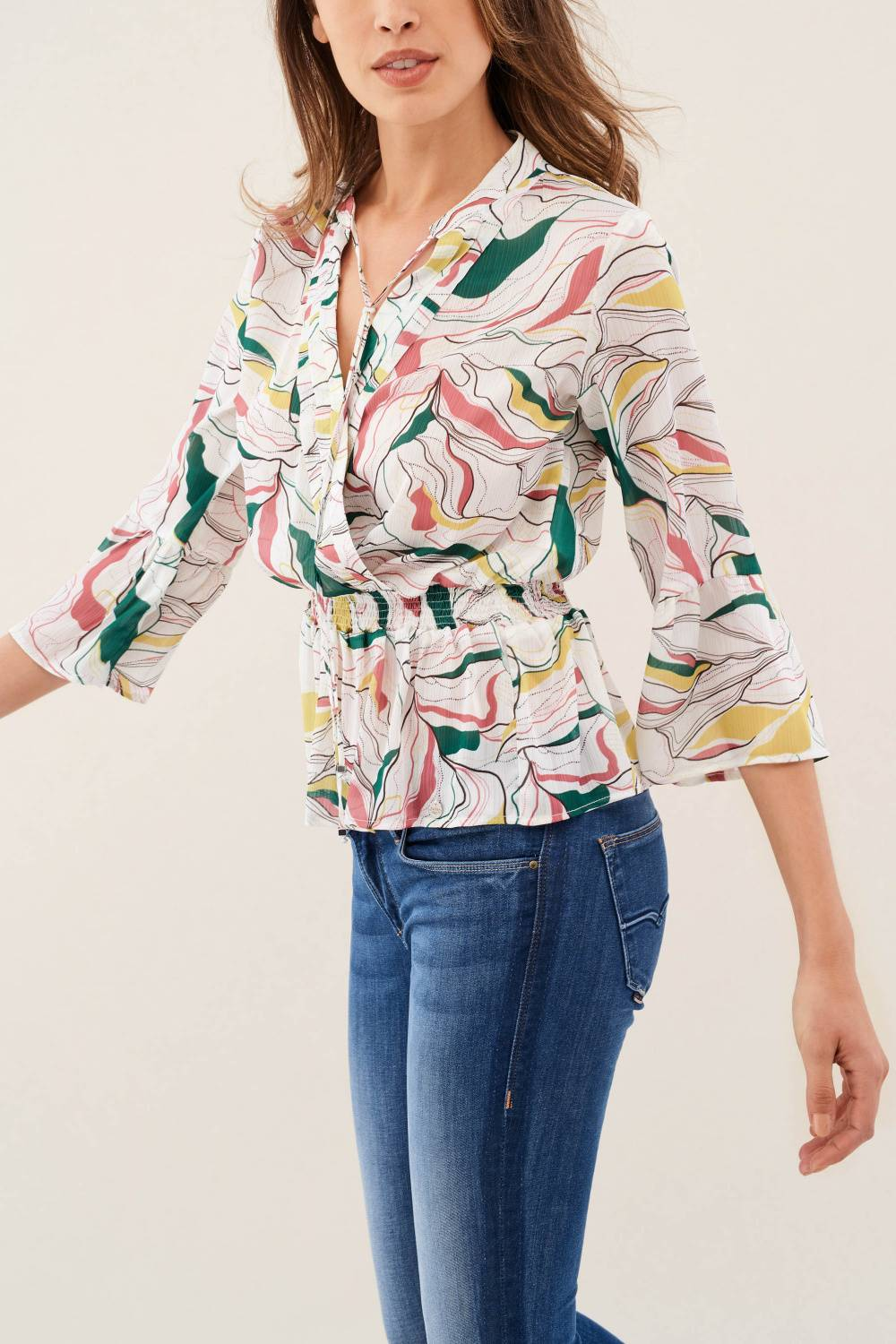 Waisted printed blouse - Salsa