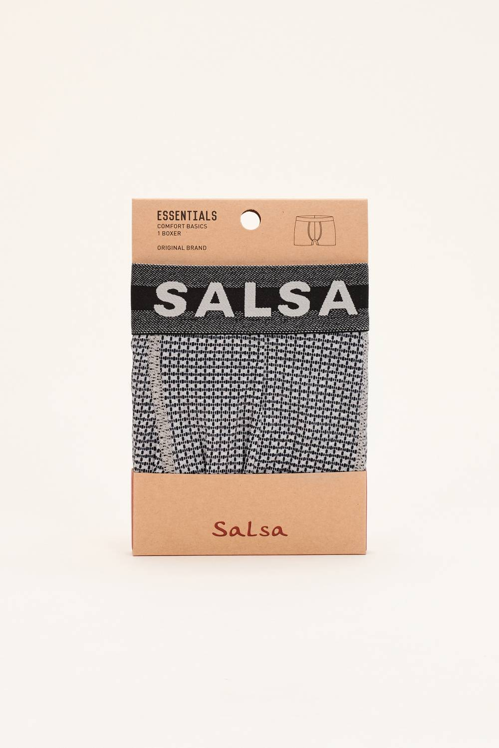 Boxer with microprint - Salsa