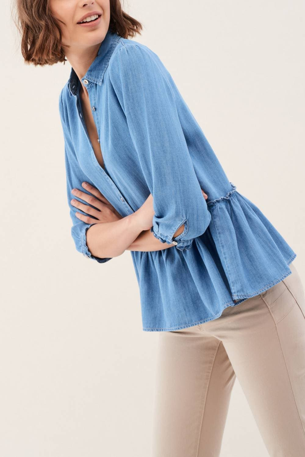 Peplum Denim shirt - Salsa