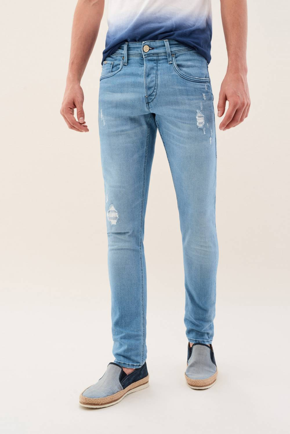 Jeans Clash, Skinny, eco-friendly, Premium Waschung, mit Destroystellen - Salsa