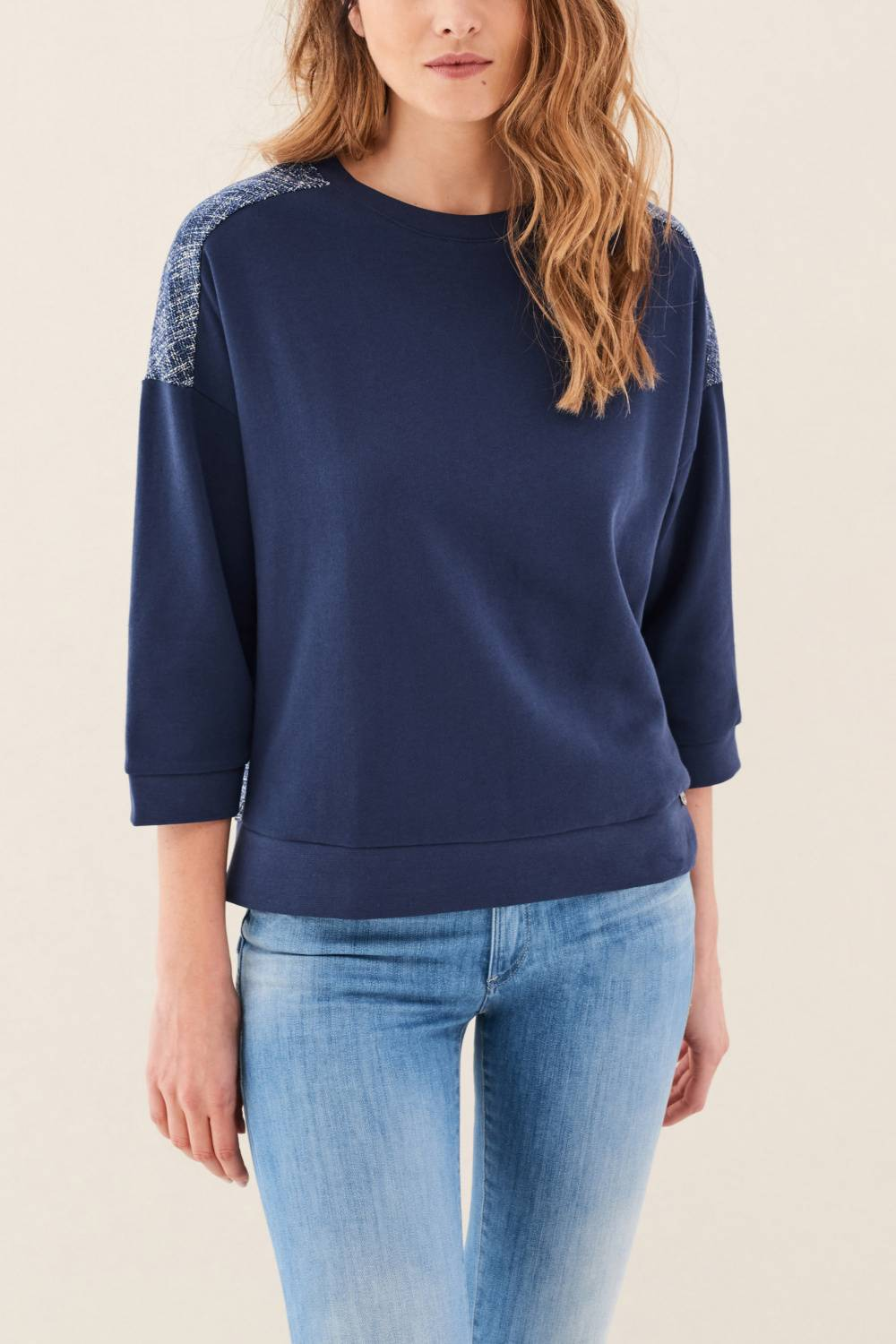 Mixed fabric sweatshirt - Salsa