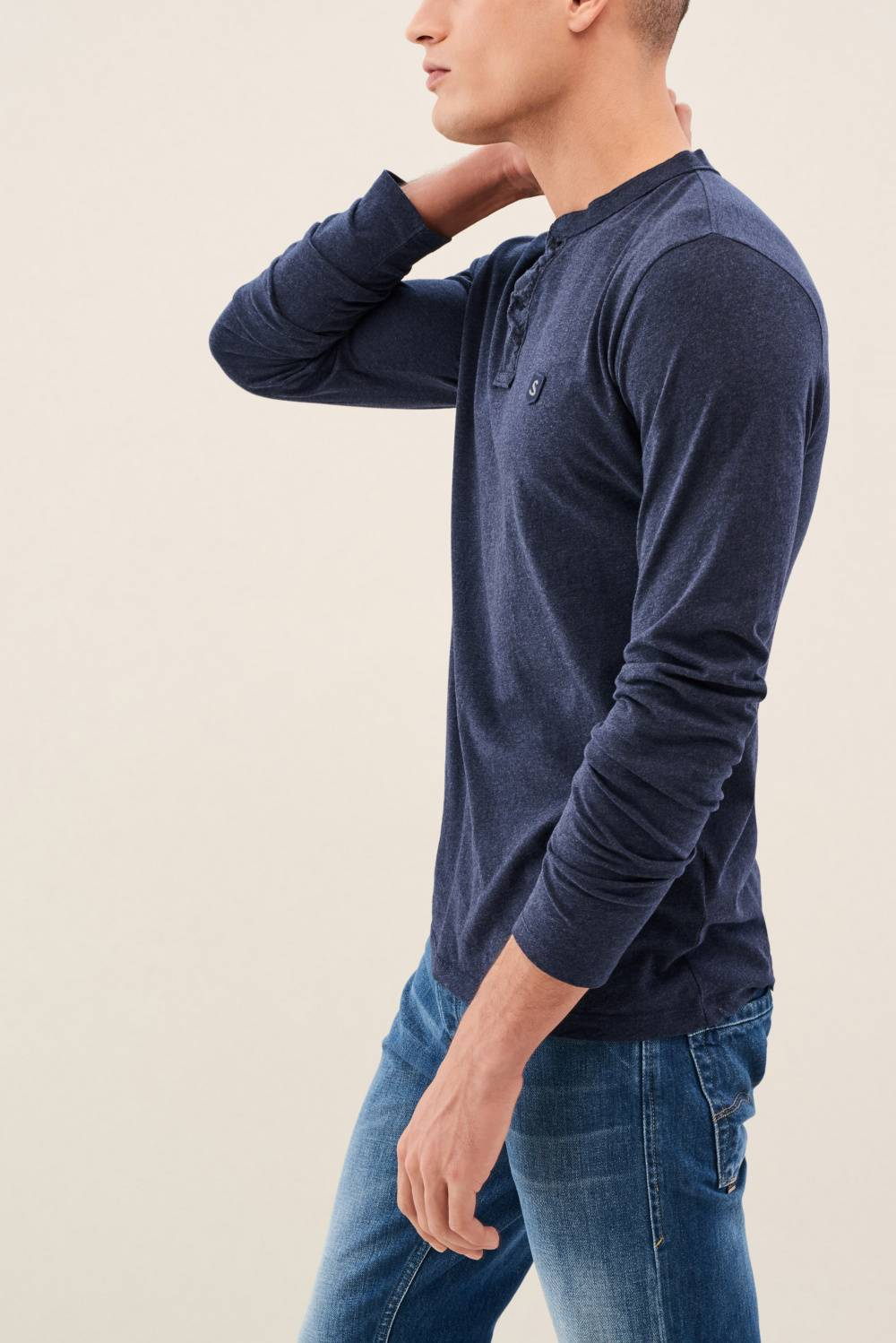 Sweater with buttons on the neckline - Salsa