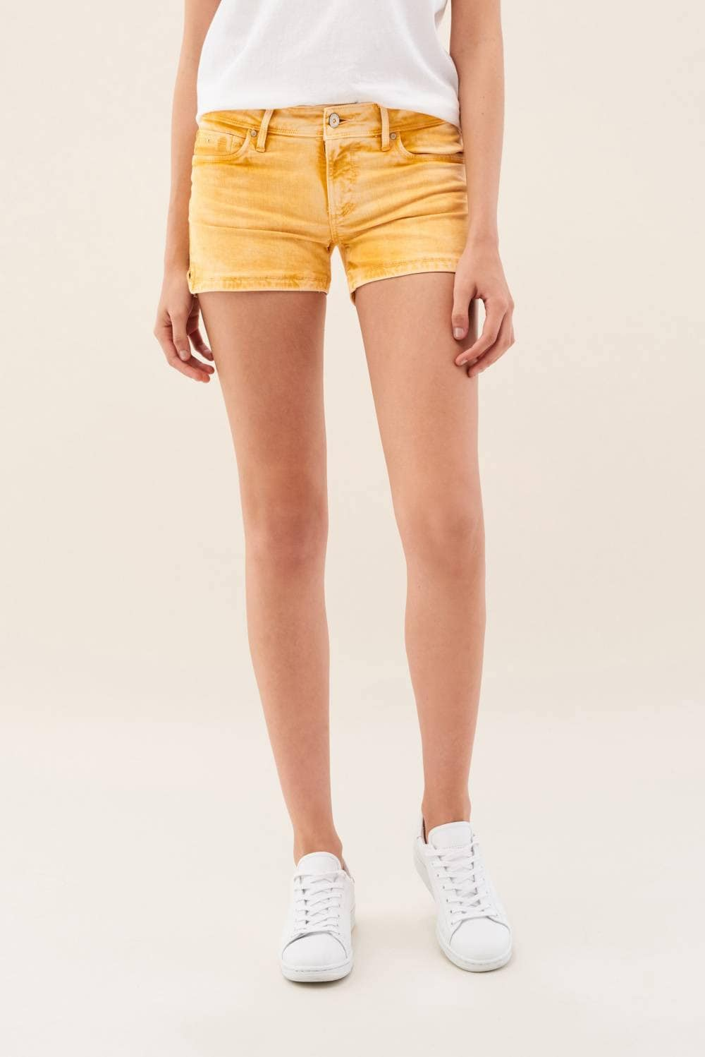 Wonder Push Up Shorts in Fabric Colour - Salsa