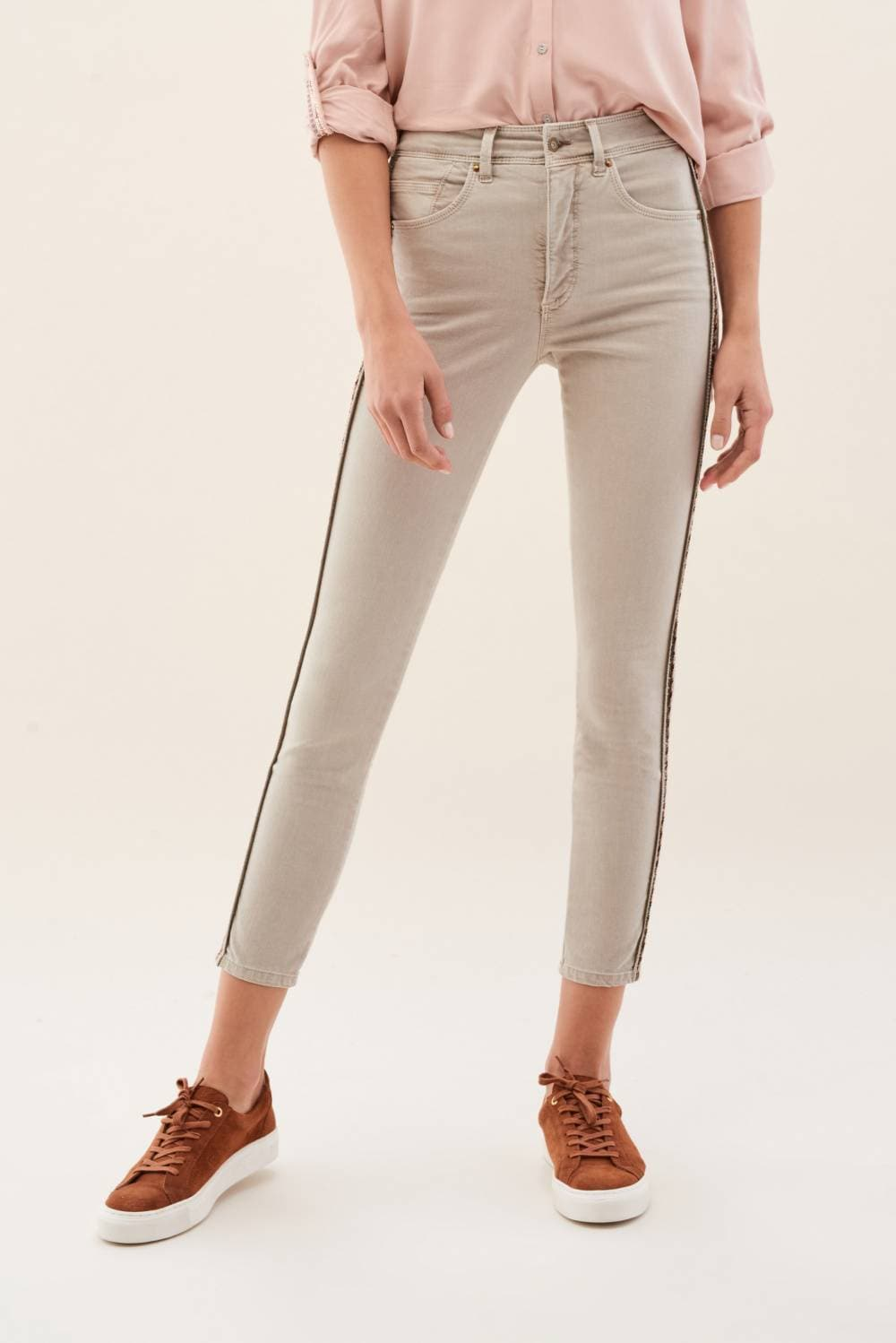 Pantalones Secret Glamour con lateral de color - Salsa