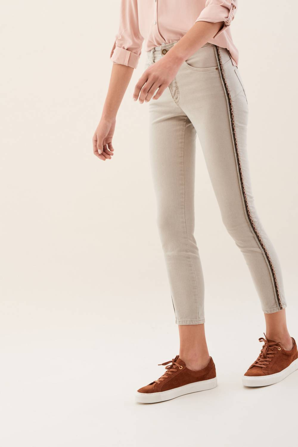Secret Glamour trousers with lateral coloured sides - Salsa