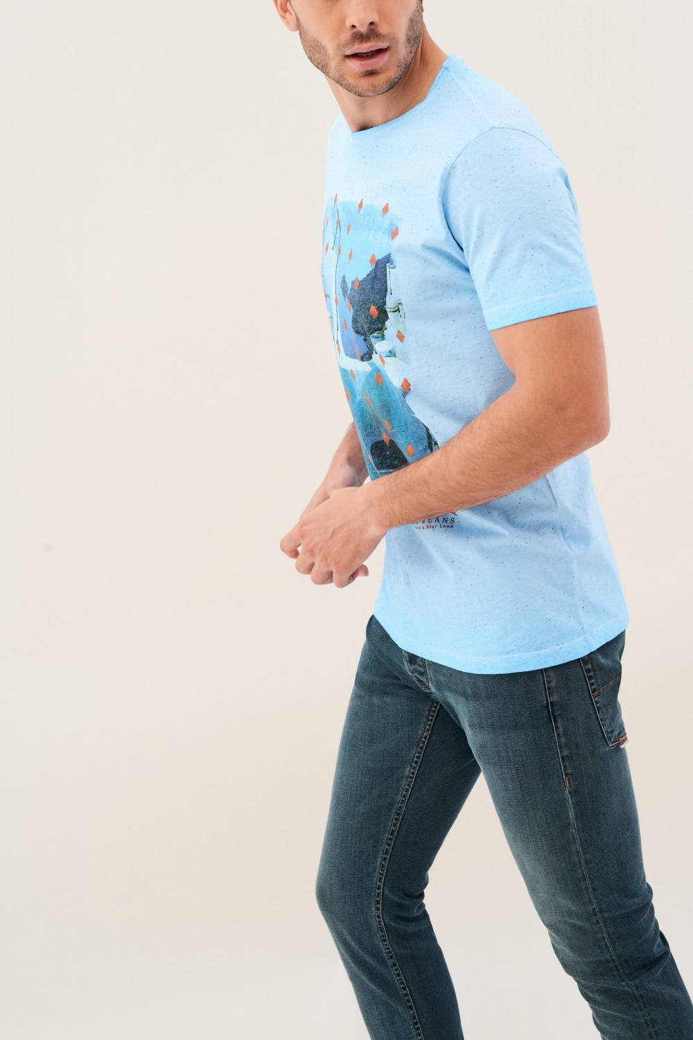 Slim t-shirt with print - Salsa