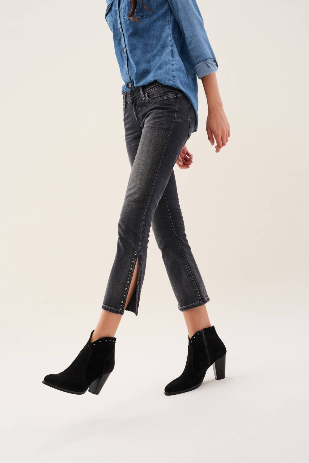 Vaqueros Shape Up cropped flare - Salsa