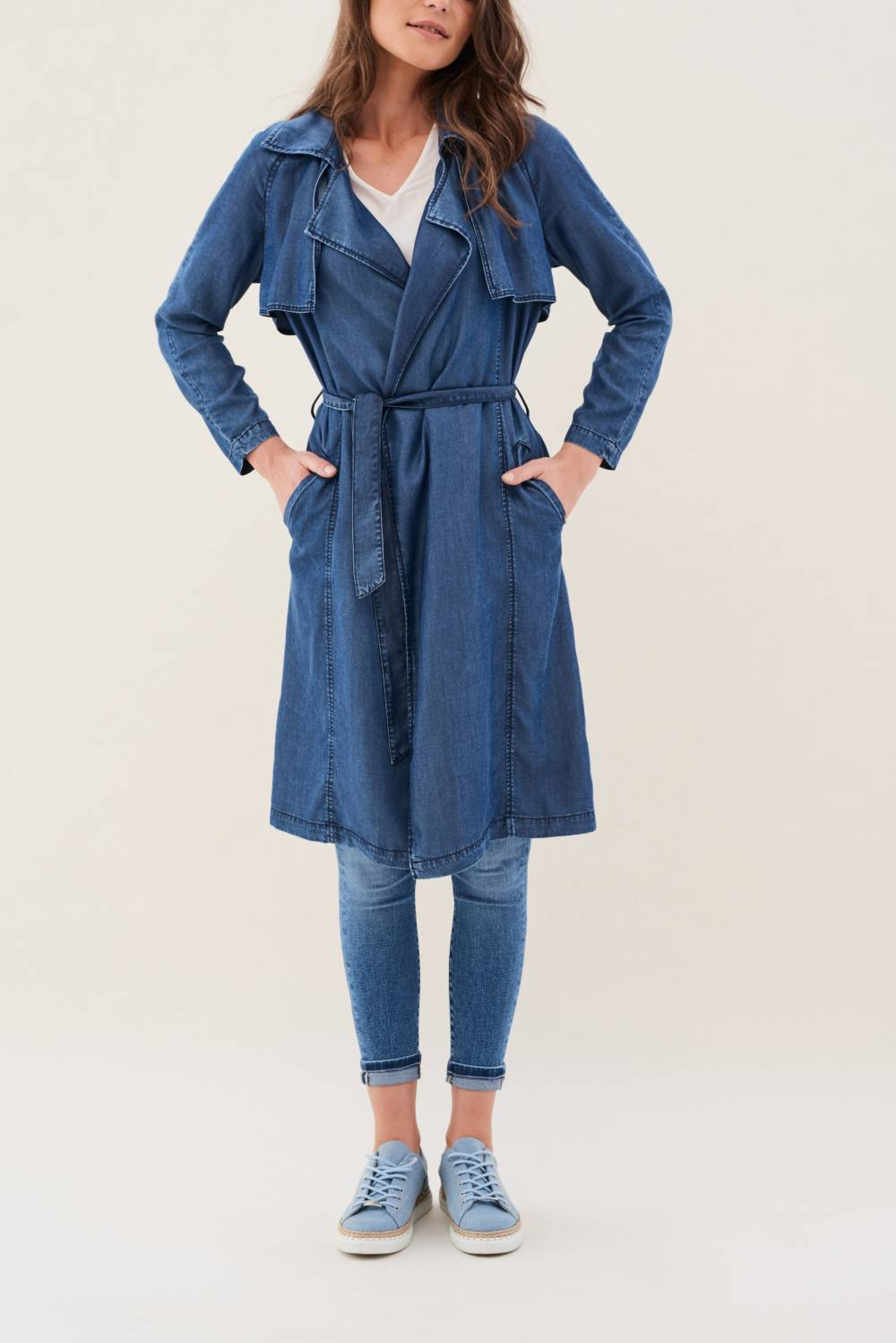 Denim Trench coat - Salsa