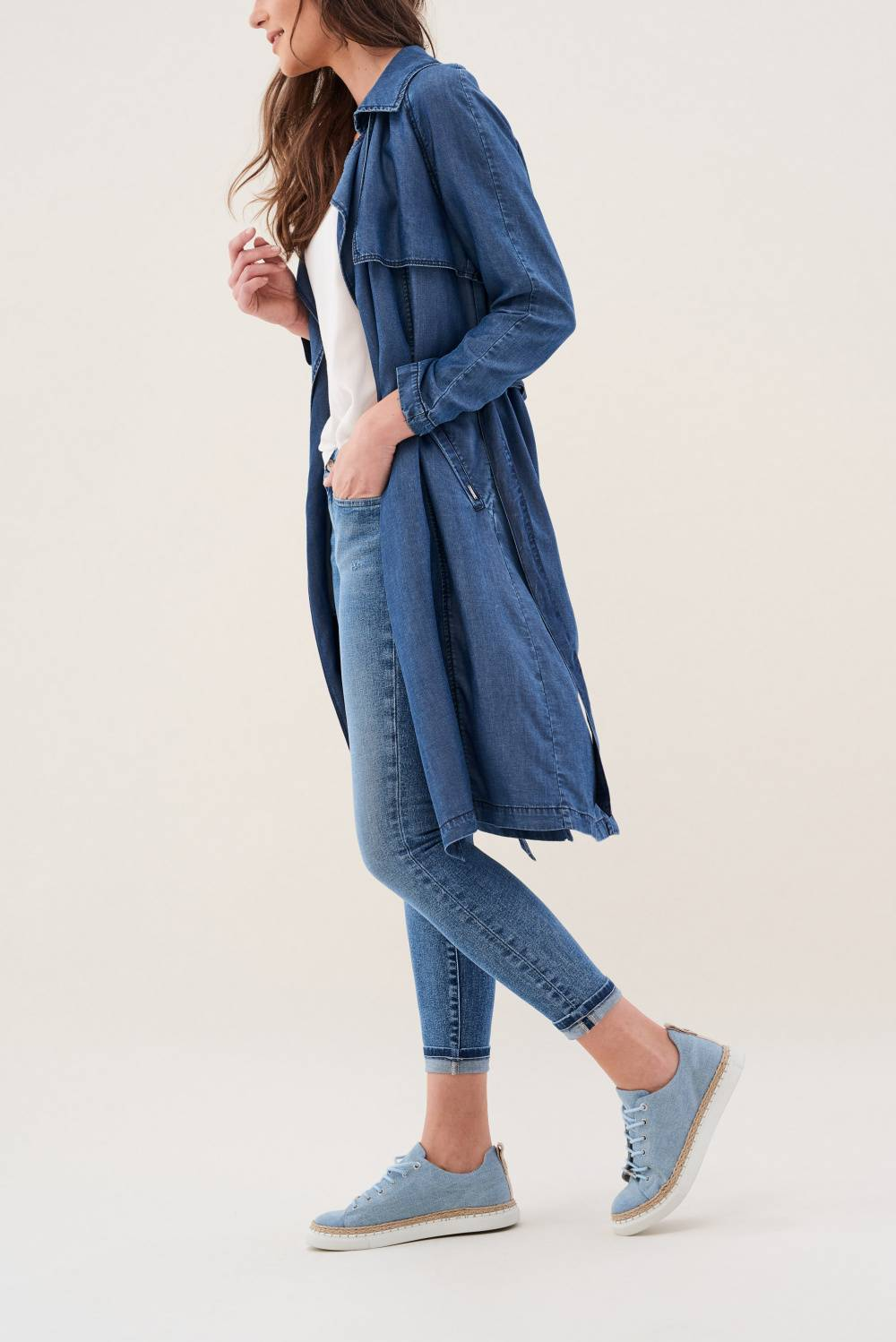 Jacke, Trenchcoat, denim - Salsa