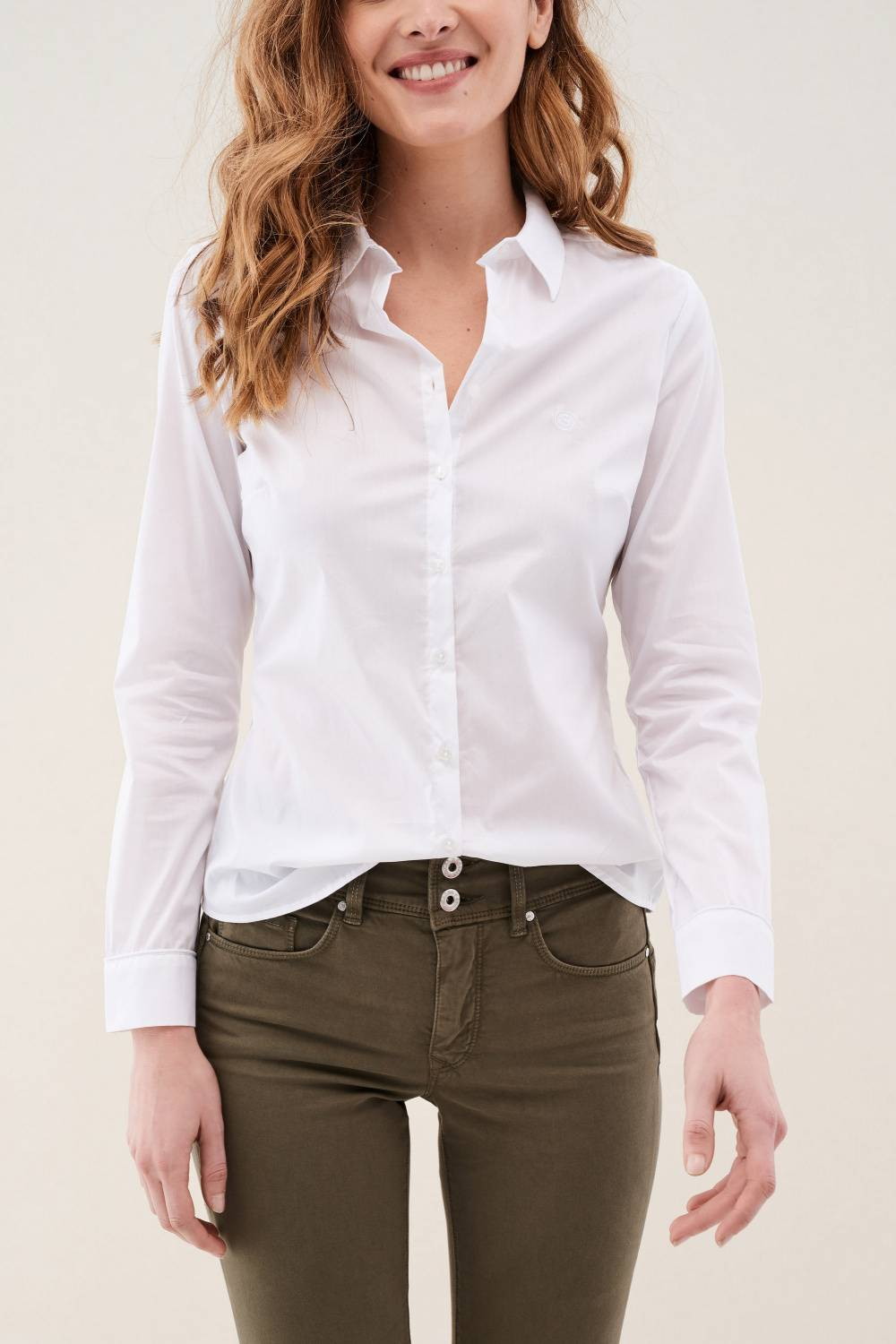 Poplin regular fit shirt - Salsa