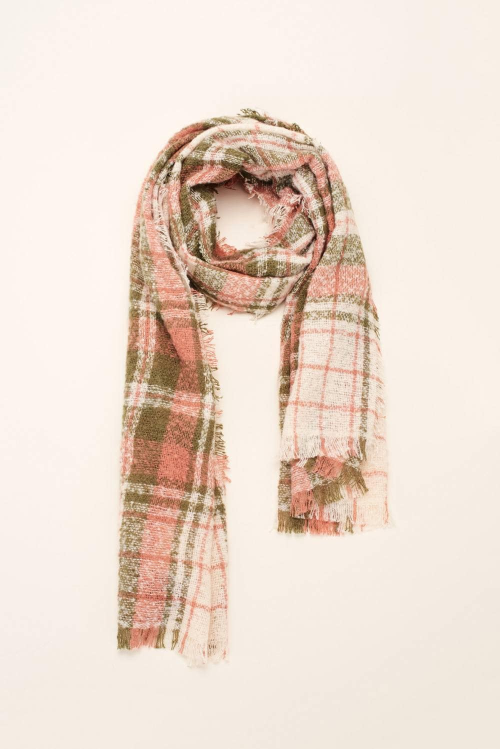 Scarf with squared print - Salsa